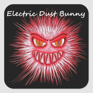 Electric Dust Bunny The Coal Blacks Part 2 Square Sticker
