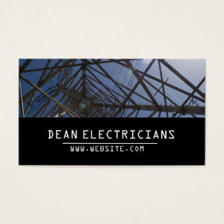 Electric Electrician Electricity Business Card