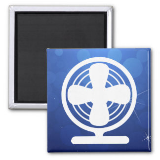 Electric Fans Graphic Square Magnet