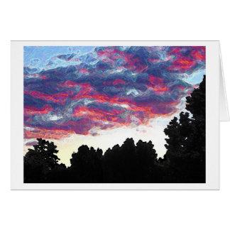 Electric Fire Clouds Card Notecard