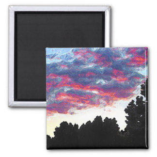 Electric Fire Clouds Magnet
