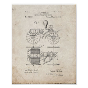 Old Fire Truck Posters & Photo Prints   Zazzle AU Old Fire Engine Wiring Diagram on