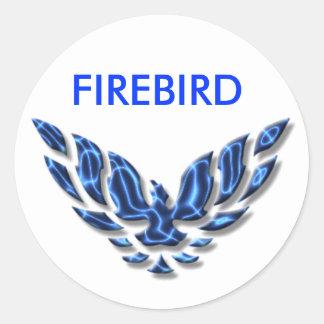 electric firebird classic round sticker