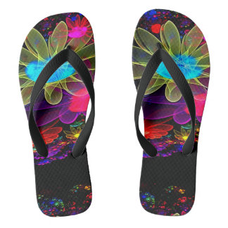 electric floral orbits flip flops