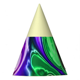 electric fractal 3 party hat
