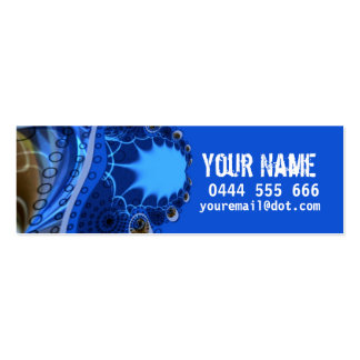 ELECTRIC Fractal Profile Card Business Cards