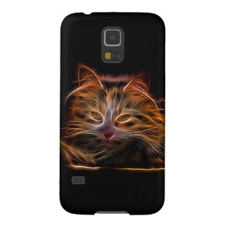 Electric Glowing Cat Galaxy S5 Cover