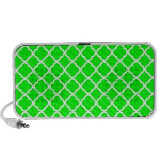 Electric Green Quatrefoil Travel Speaker