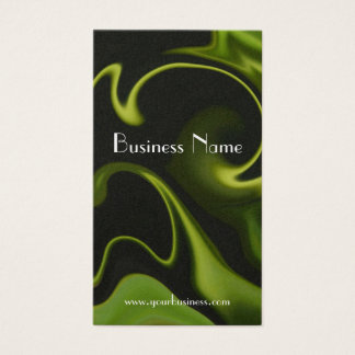 Electric Green Swirl Technology Business Card