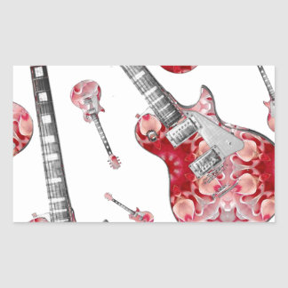 Electric Guitar 04.jpg Rectangular Stickers