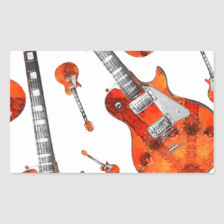 Electric Guitar 07 jpg Rectangle Stickers