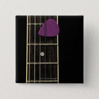 Electric Guitar 10 15 Cm Square Badge