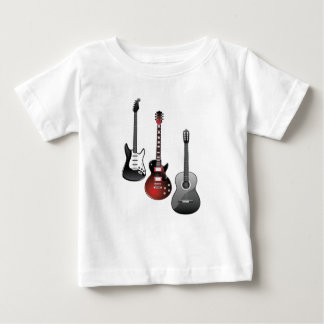 electric guitar, acoustic guitar baby T-Shirt