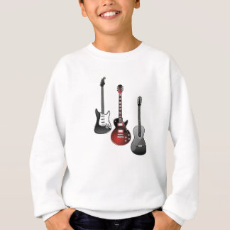 electric guitar, acoustic guitar sweatshirt