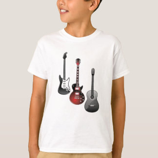 electric guitar, acoustic guitar T-Shirt