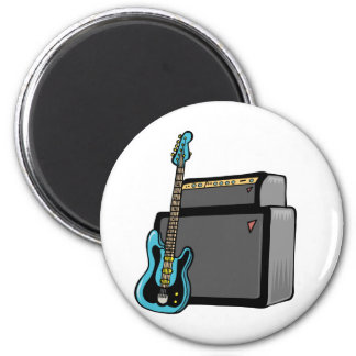 electric guitar bass and amp refrigerator magnet