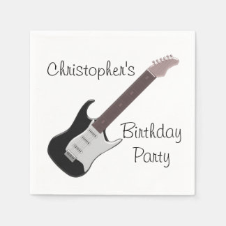 Electric Guitar Birthday Disposable Serviette