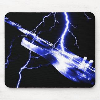 ELECTRIC GUITAR blue Mouse Pad