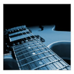 Electric Guitar Close Up - Blue