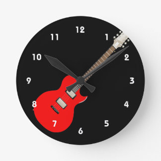 electric guitar copy.png round clock