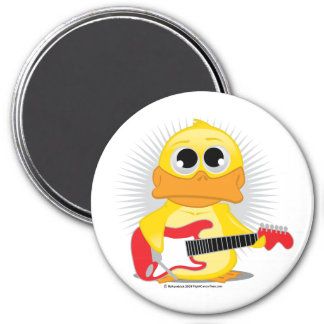 Electric Guitar Duck 7.5 Cm Round Magnet