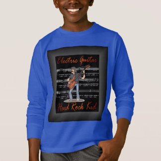 Electric Guitar~Hard Rock Kid~Sheet Music Back T-Shirt