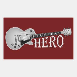 Electric Guitar Hero Rectangular Stickers