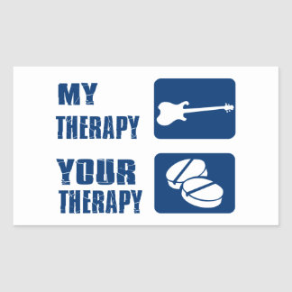ELECTRIC GUITAR is my therapy Rectangular Stickers