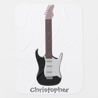 Electric Guitar Just Add Name Baby Blanket