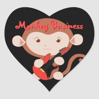 Electric Guitar Monkey Stickers