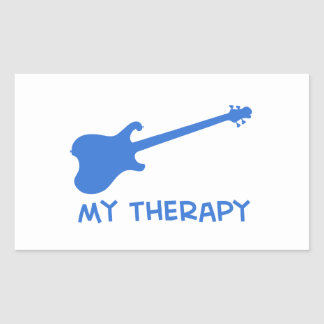 Electric Guitar my therapy Rectangle Sticker