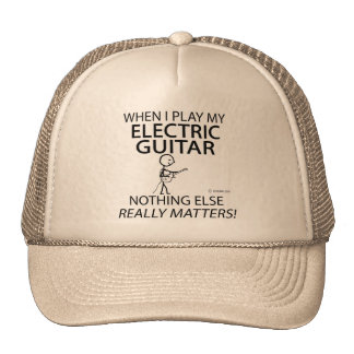 Electric Guitar Nothing Else Matters Mesh Hats
