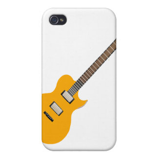 electric guitar orange.png covers for iPhone 4