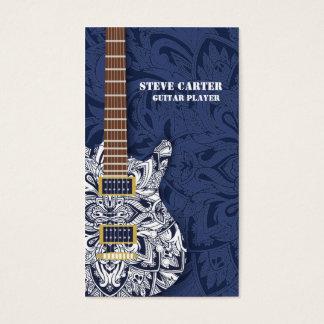Electric Guitar Player Music Artist Card