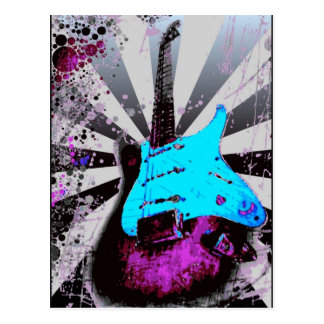 Electric Guitar Postcard