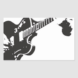 Electric Guitar Rectangular Sticker