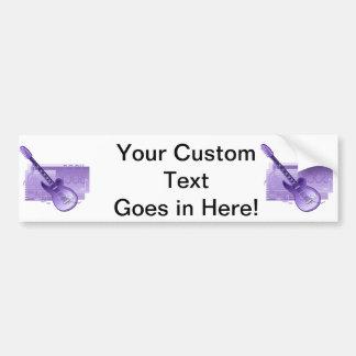 electric guitar rock back purple.png bumper sticker