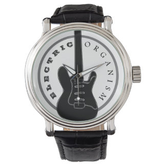 Electric Guitar Rock Music Cool Black Elegant Watch