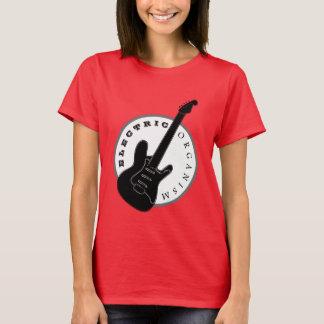 Electric Guitar Rock Music Cool Black Red Modern T-Shirt