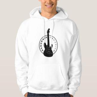 Electric Guitar Rock Music Cool Black White Modern Hoodie