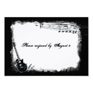 Electric Guitar Rough Music rsvp with envelopes Card