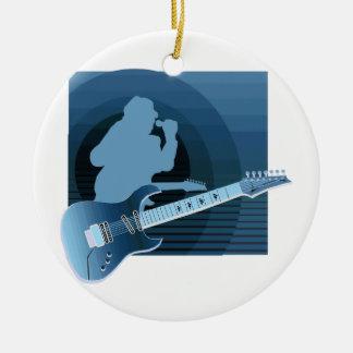 electric guitar singer  invert blue.png ceramic ornament