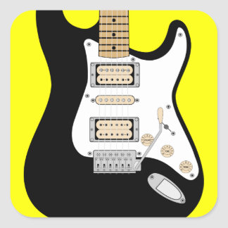 Electric Guitar Square Sticker