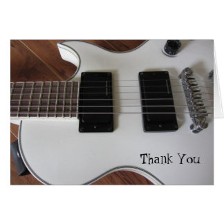 Electric Guitar Thank You Card