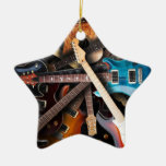 Electric Guitars Concept Christmas Tree Ornaments