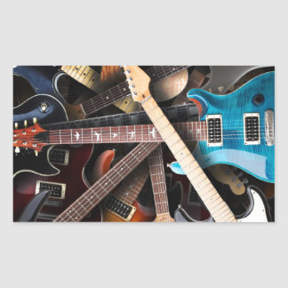 Electric Guitars Concept Sticker