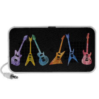 Electric Guitars in Electric Colors Travel Speaker