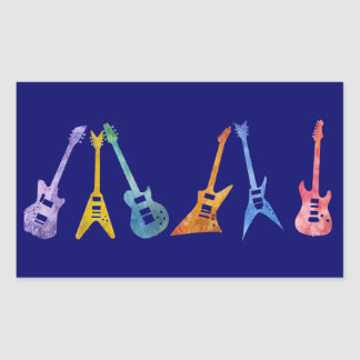 Electric Guitars in Electric Colors Stickers