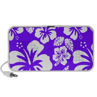 Electric Indigo Tropical Hibiscus Travelling Speaker