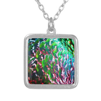 Electric Light Flumes Silver Plated Necklace